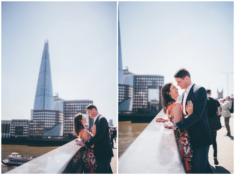 A pre-wedding photoshoot in London City Centre.