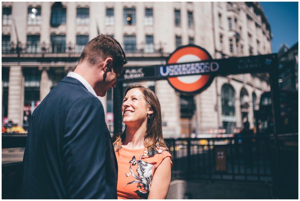 London Underground engagement photoshoot.