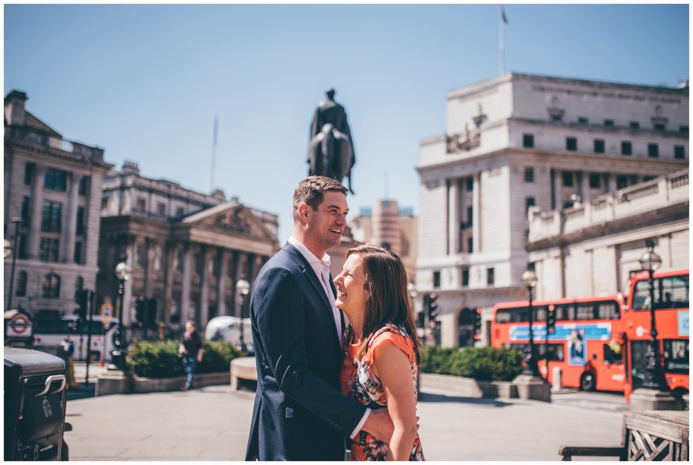 Summer wedding photoshoot in London city centre.