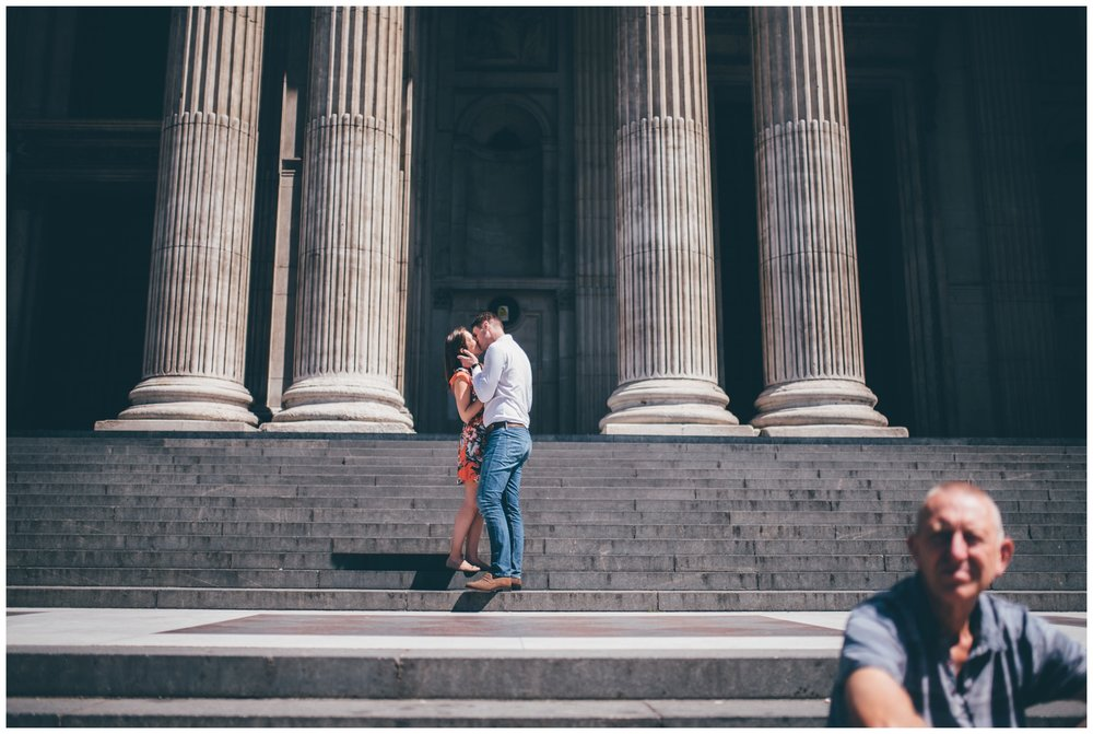Summer wedding photoshoot near St Paul's Cathedral in London city centre.