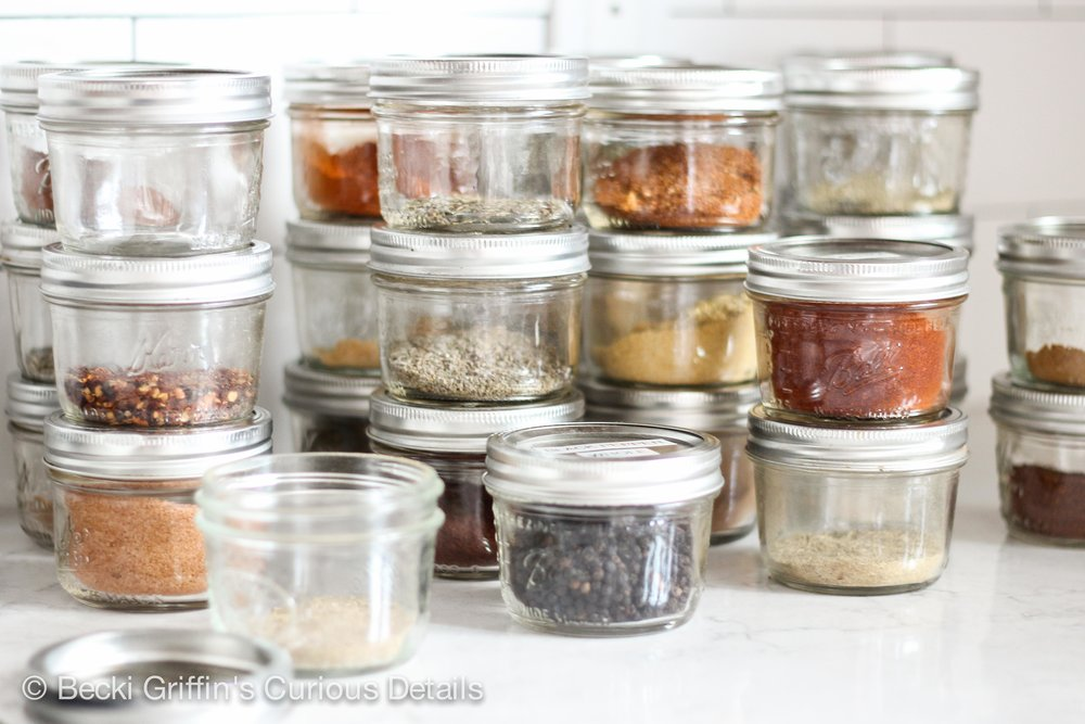 Smart spice storage is so simple and easy with 4oz spice jars.