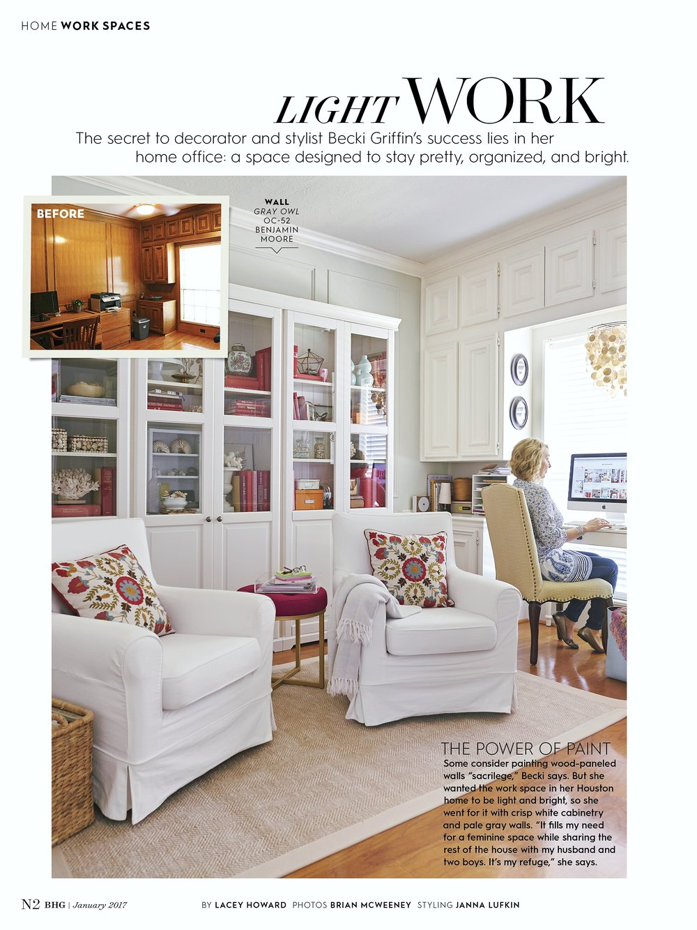 Becki Griffins Curious Details Home Office   Houston Home And Garden  Magazine