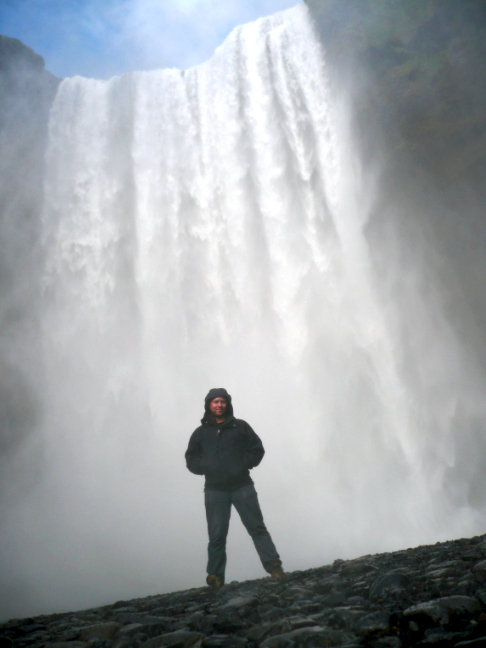 DEREK AT SKOGAFOSS FALLS IN ICELAND