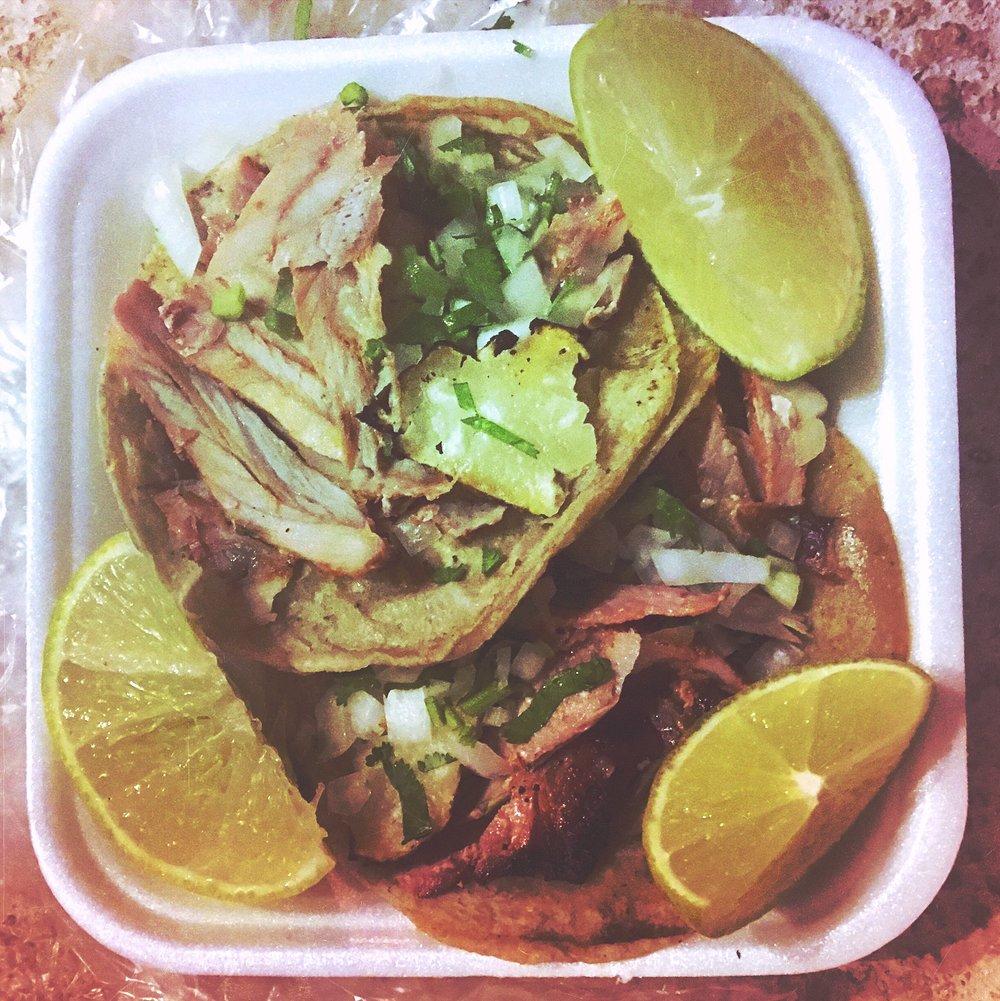 Tacos El Pastor @ Tacqueria El Nero (11p each)