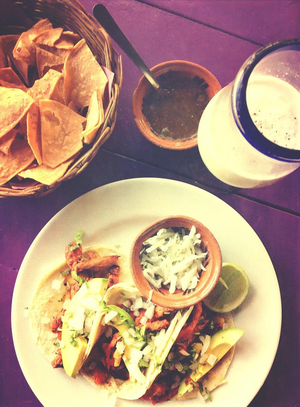 Tacos + Pina Colada @ Charlie's