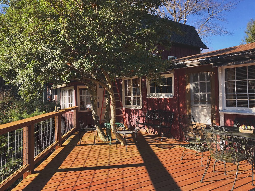 Judith refinished the deck this summer!