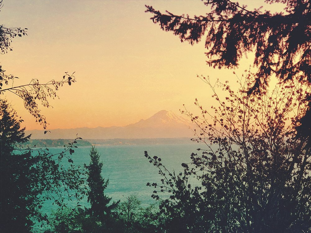 View of Mount Rainier from the Loft deck