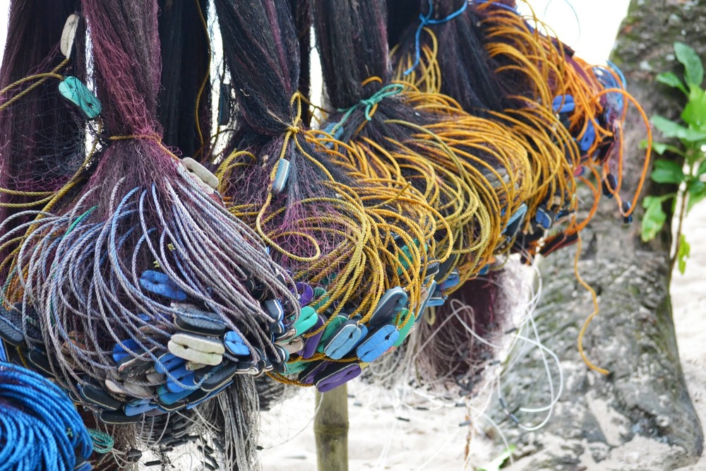 A fisherman's drying nets, Ayoke Island, Cantilan, Surigao del Sur, Philippines, 2013.