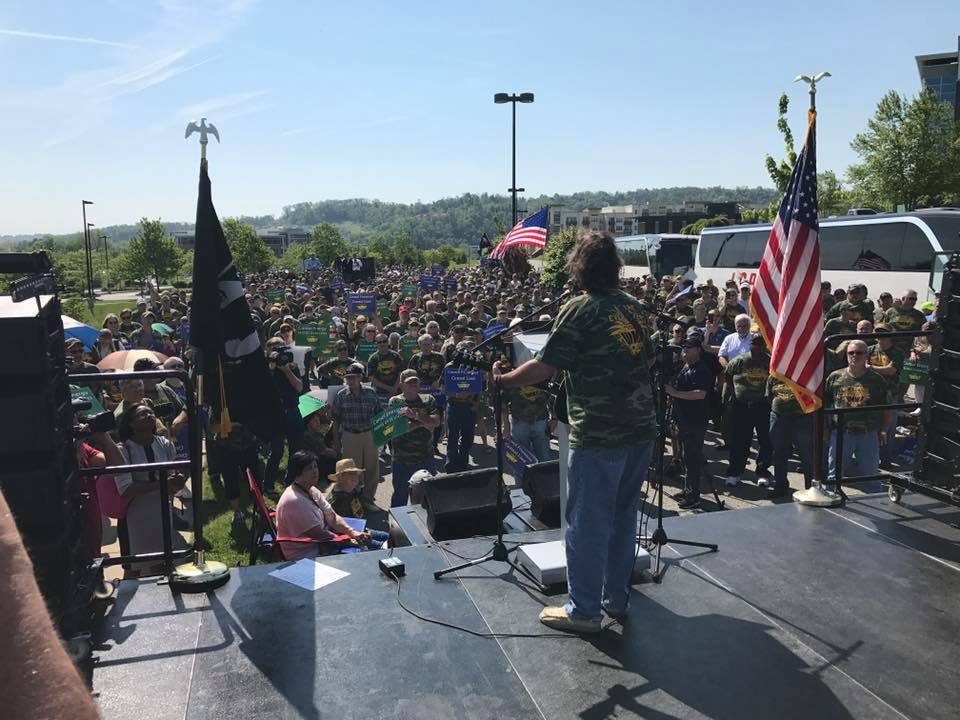 CCJ Board Member Tom Breiding playing at Rally. Photo Credit: United Mine Workers