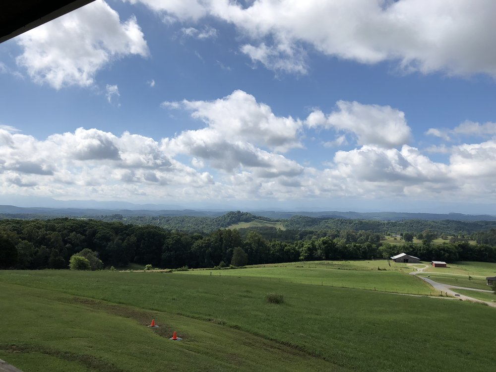 View of Smokey Mountains at Highlander Center in Tennessee.