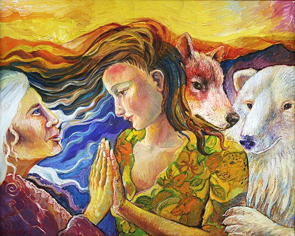 ANCESTRAL SPIRITS. by artist Suzanne Deveuve