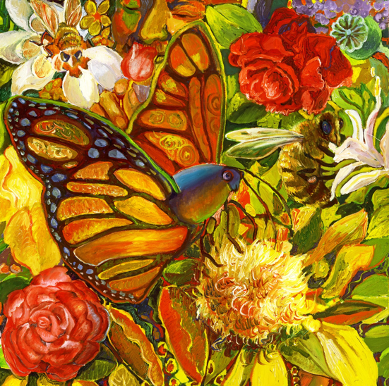 POLLINATING by artist Suzanne Deveuve