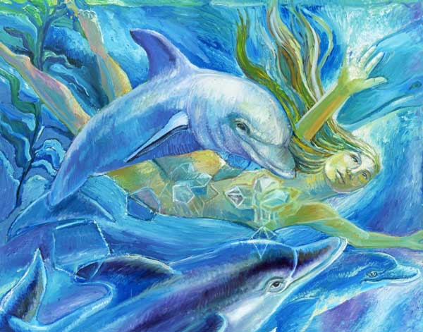CRYSTAL DOLPHIN by artist Suzanne Deveuve
