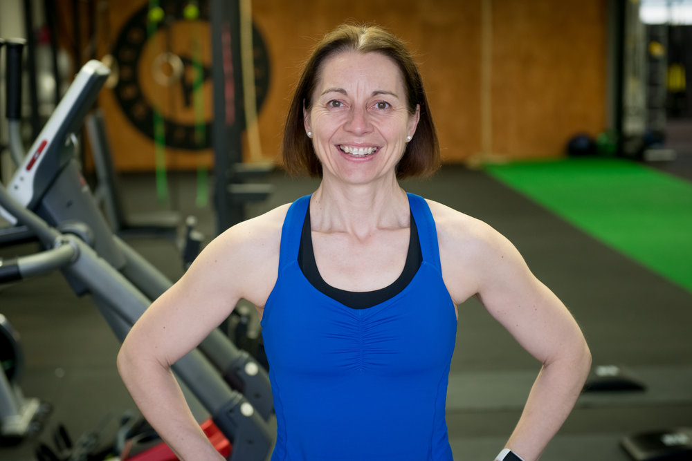 "Michella, an avid runner had lost weight, but couldn't seem to lose the 'flab' until she tried strength training. Now? ""I'm running less than ever and can still run faster and further"".   Success? I'd say so!"
