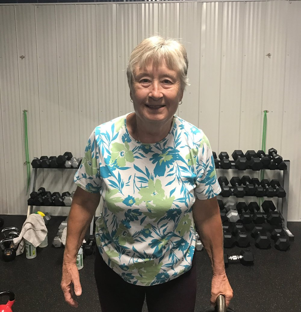 Post hip-surgery, Carol is in better shape than before, proving age really is just a number.