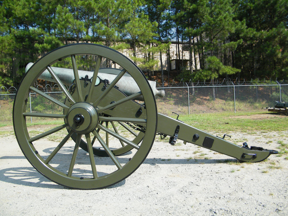 The twelve pound Napoleon cannon was operated by the Ohio battery that were positioned in front of the cotton gin at the Battle of Franklin.