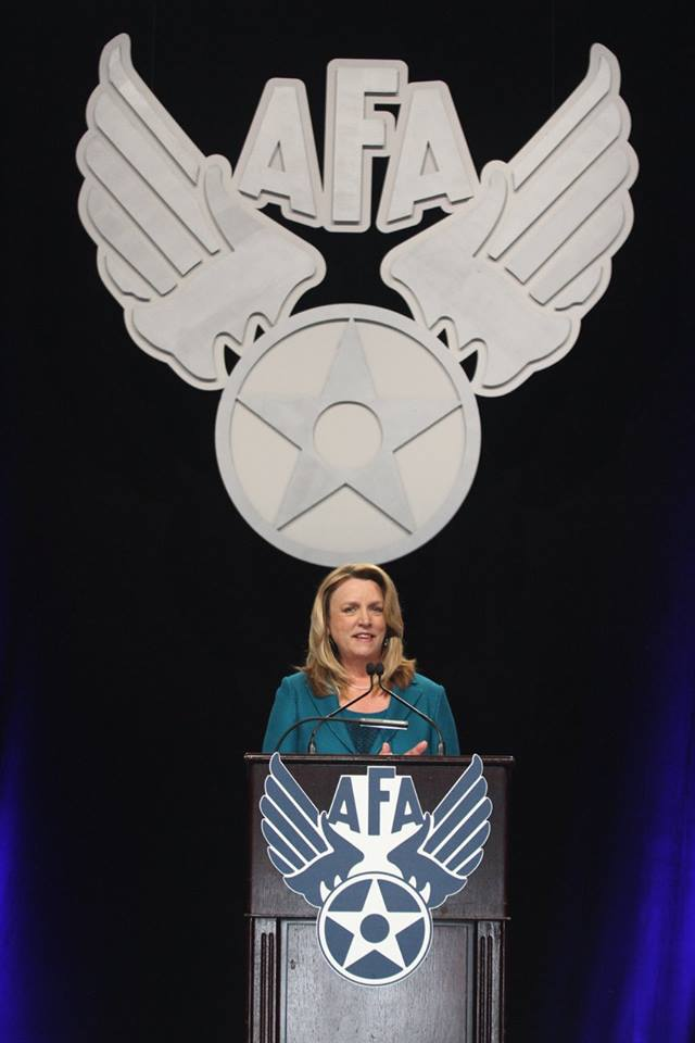 The Honorable Deborah Lee James speaks at AFA's Air Warfare Symposium.