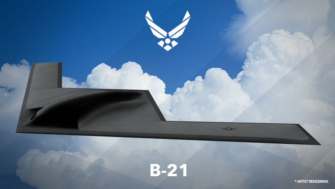 Artist rendering of the B-21.