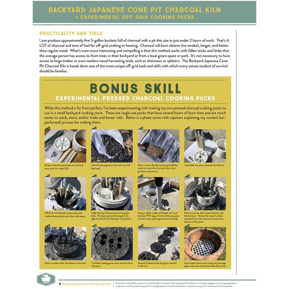 Japanese Backyard Cone Kiln: DIGITAL Survival Skill Sheet Set