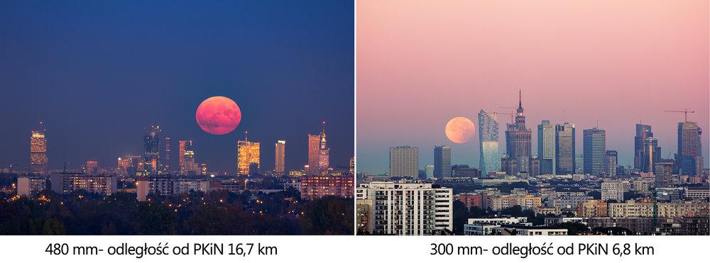 Księzyc nad Warszawa