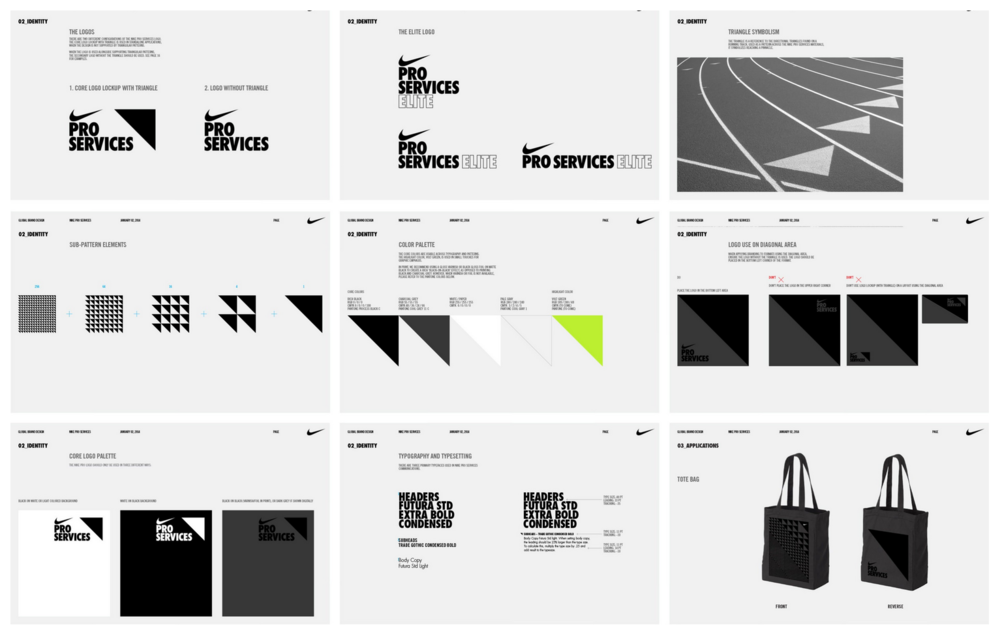 Courtesy of Nike Pro Services visual identity manual