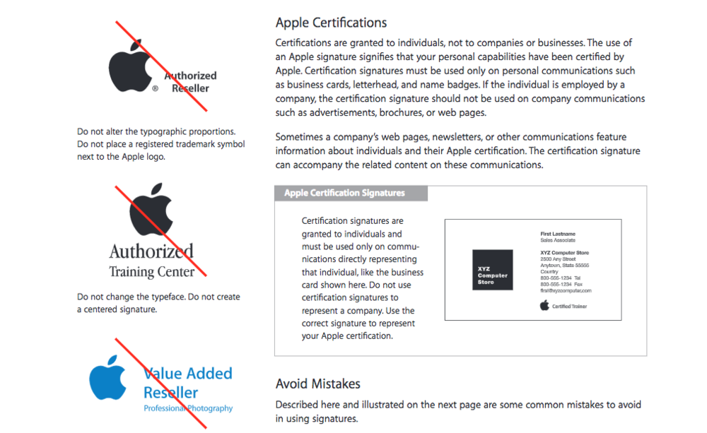 Courtesy of Apple identity guidelines