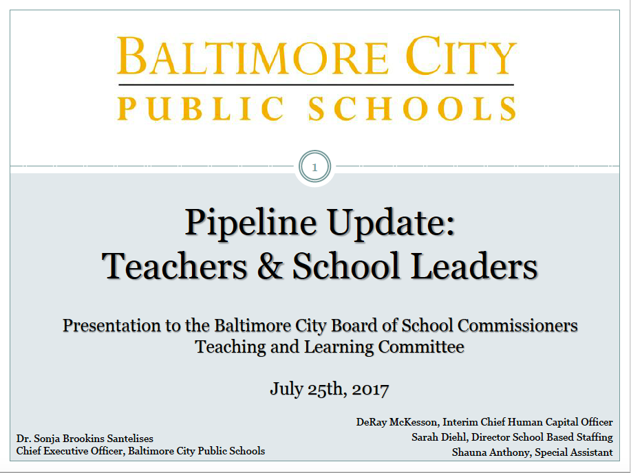 BCPSS teacher pipeline