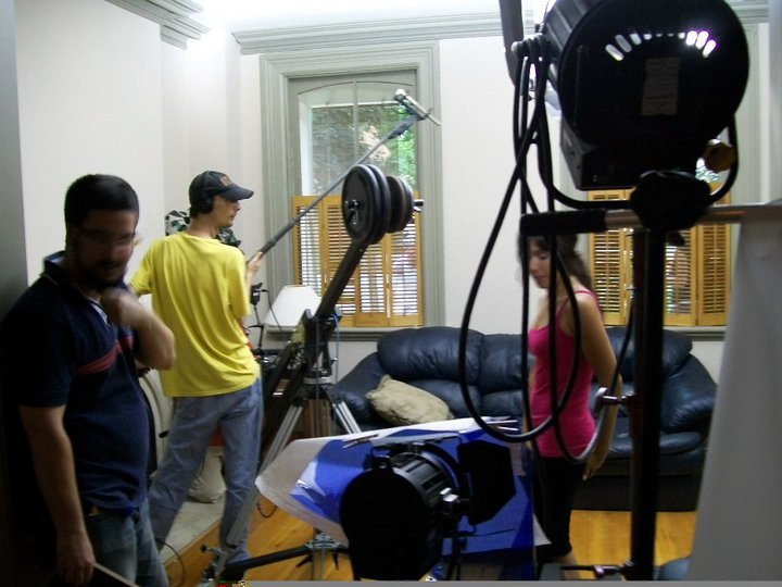 Pictching in as Boom Operator on the set of Matchbox Pictures' Devil Seed.