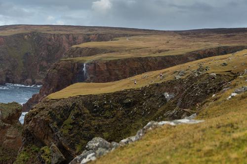 Árainn Mhór's west coast; spot the swim-runners