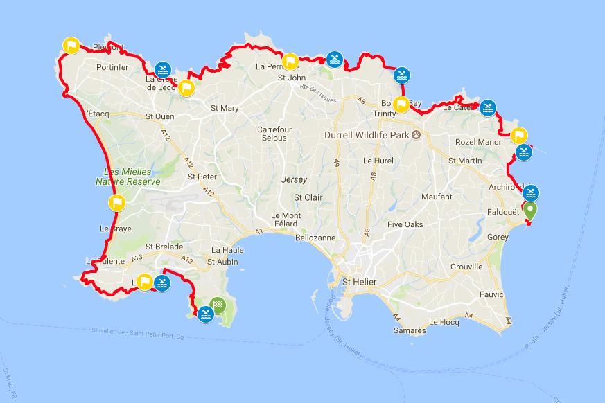 The Breca Jersey Swimrun  course