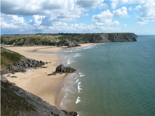 Breca Gower three cliffs bay.png