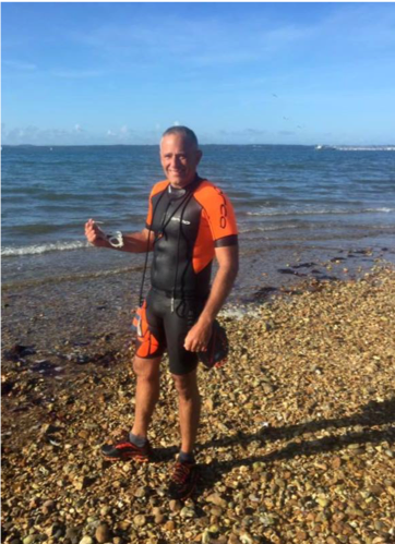 Early morning swim in Lee-on-the-Solent