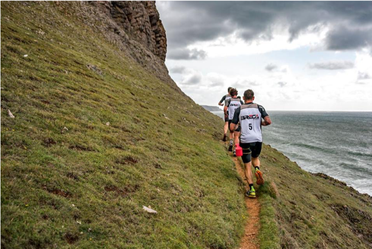 Breca Gower swimrun coastline 1