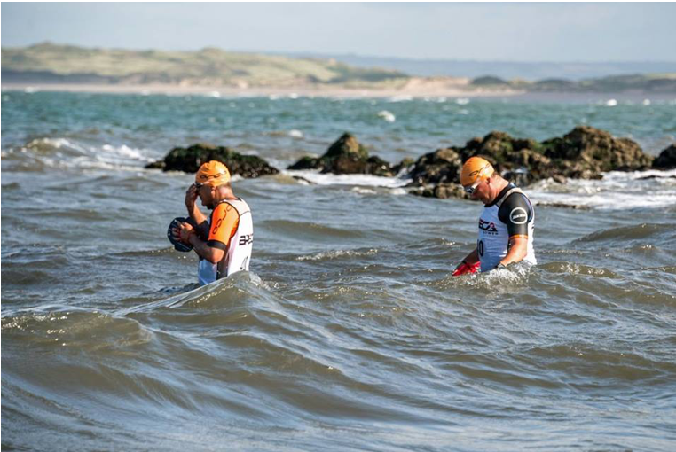 Breca Gower Swimrun swimming