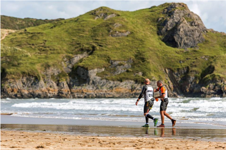 Breca Gower swimrun Oxwich
