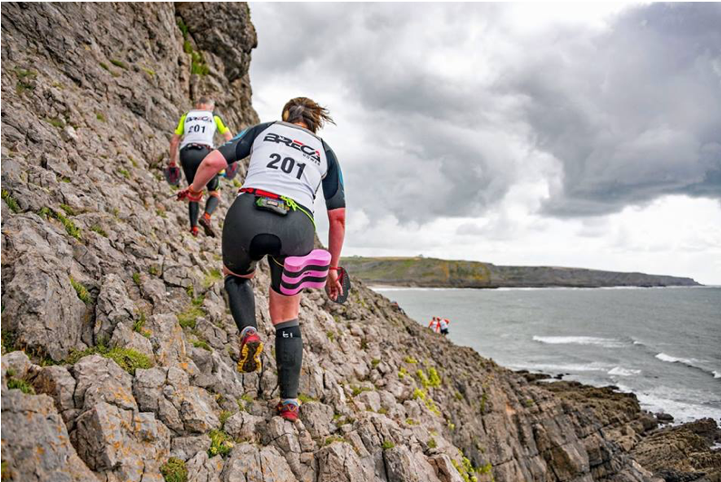 Breca Gower swimrun coastline 2