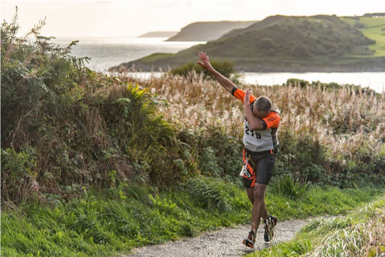 Breca Gower swimrun celebration