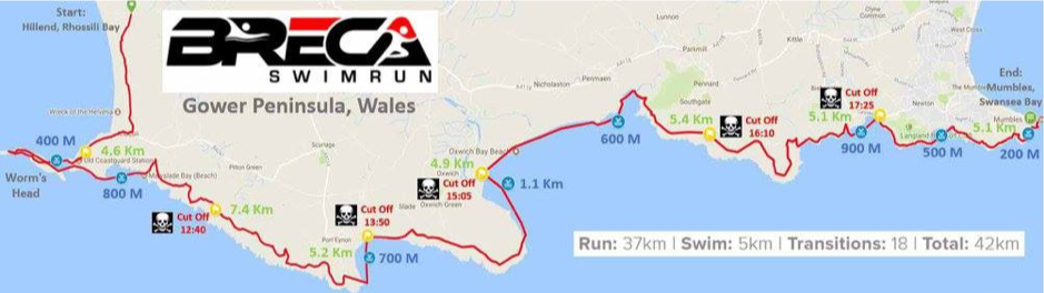 The Breca Gower route. An unforgettable epic race: challenging, tough but stunningly beautiful and fun.