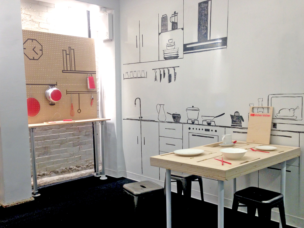 Group exhibition  Kitchen.Kitchen  for the final presentation of the class 'Playful Communication of Serious Research'   ITP May 2015