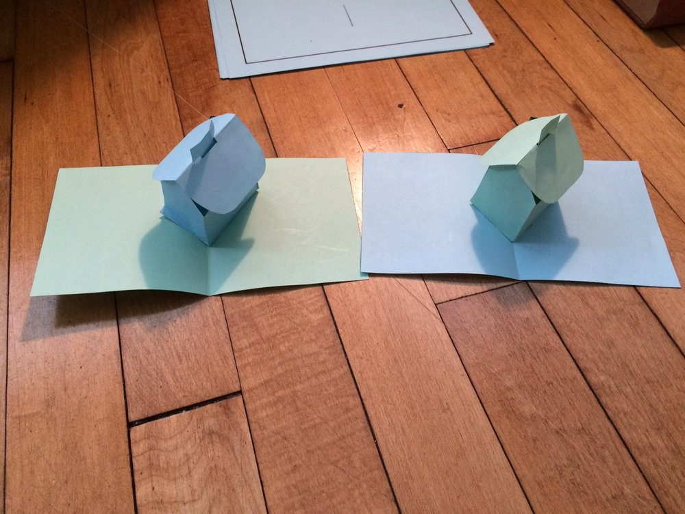 """Pop-up pages from """"Walking Each Other Home,"""" written and hand-assembled by Adam Michael Krause"""