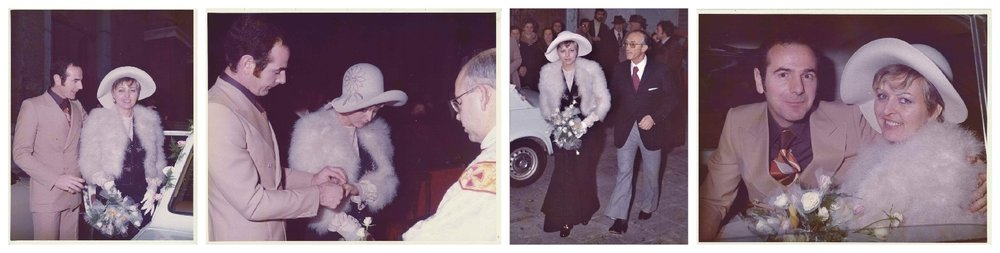 Mama and Papa on their wedding day circa 1973.Her freinds still remark on how sbeautiful she was on that day.