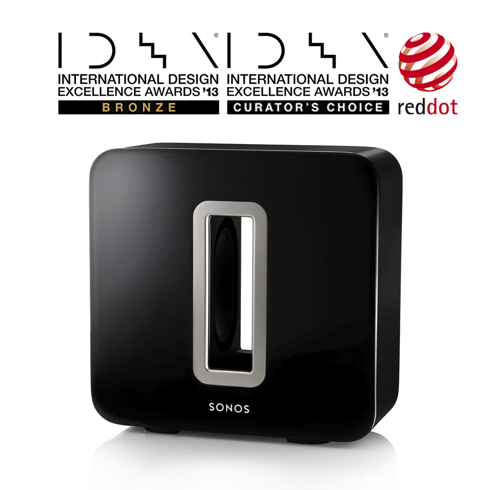 Sonos SUB   International Design Excellence Awards (IDEA) - Bronze  International Design Excellence Awards (IDEA) - Curator's Choice Award Red Dot Design Award