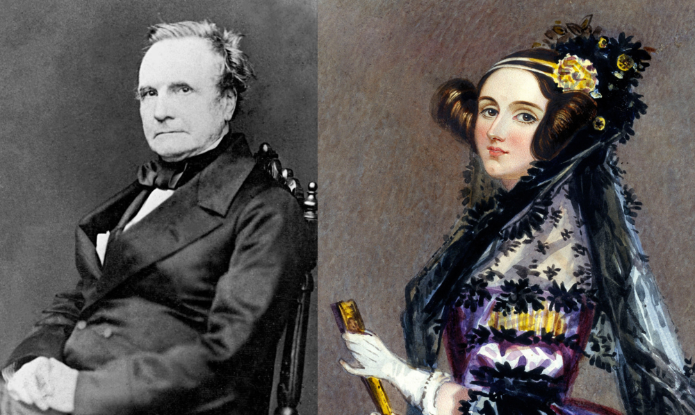 Left:  Charless Babbage  Right:  Ada Lovelace