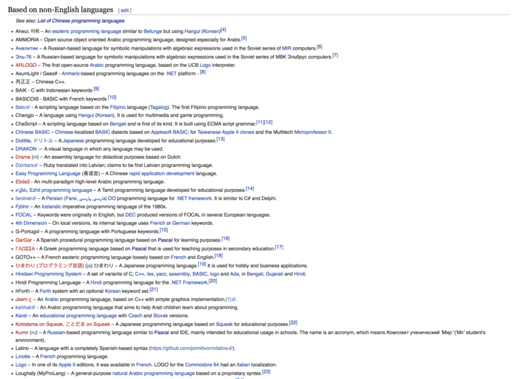 047d68933e9f List of non-English programming languages - Wikipedia