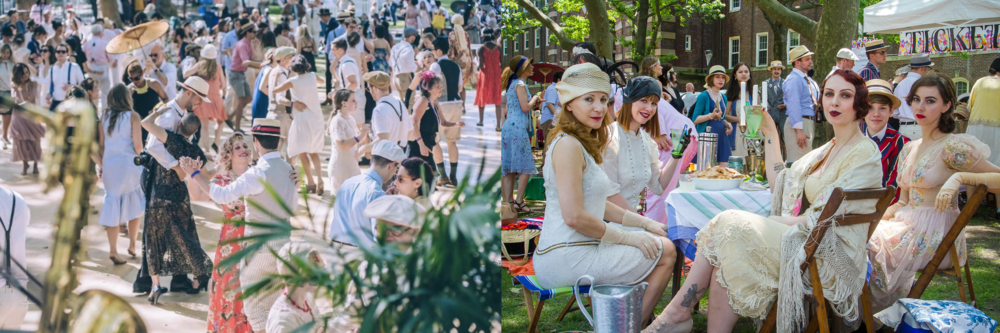 Jazz Age Lawn Party at the Governor's Island in New York Bay