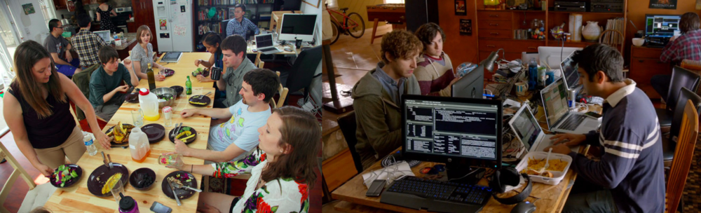 Hacker Homes: real life hacker hostel vs. reel life co-living (Photo Credit: HBO Silicon Valley)