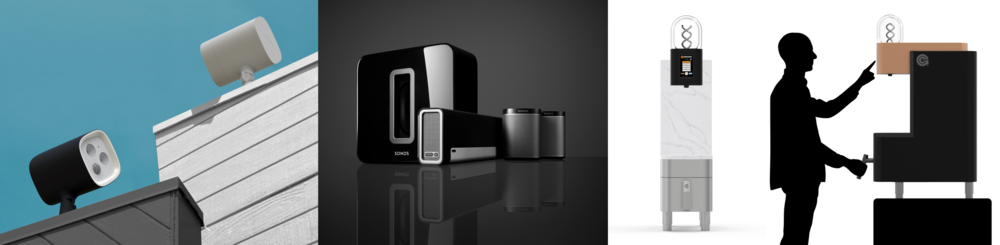 VAVA Spotlight, Sonos Wireless Music System, Ground Control Cyclops Batch Coffee Brewer, designed by Y Studios