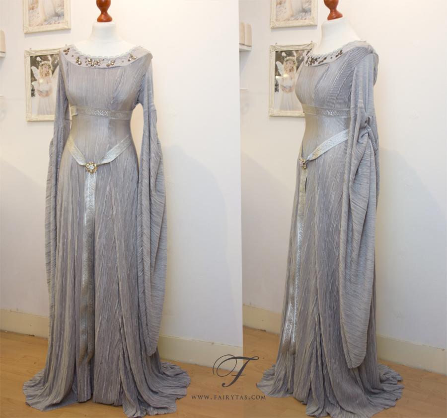 Silver elven dress