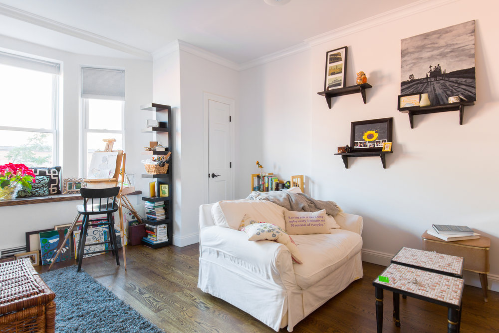 The original Dwell home is a restored brownstone across from a historic armory in Crown Heights. -