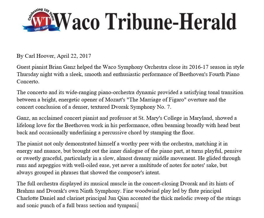 Waco Tribune-Herald Review